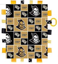 UCF Knights Baby Sensory Tag Lovey Minky Blanket