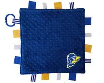 Delaware Blue Hens Baby Sensory Tag Lovey Minky Blanket