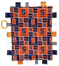 Syracuse Orange Baby Sensory Tag Lovey Minky Blanket