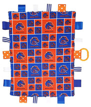 Boise State Broncos Baby Sensory Tag Lovey Minky Blanket