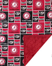 Alabama Crimson Tide Baby/Toddler Minky Blanket
