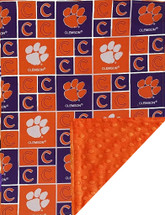 Clemson Tigers Baby/Toddler Minky Blanket