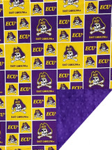 East Carolina Pirates Baby/Toddler Minky Blanket