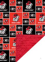 Georgia Bulldogs Baby/Toddler Minky Blanket