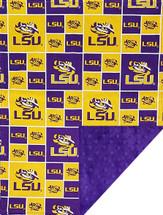 LSU Tigers Baby/Toddler Minky Blanket