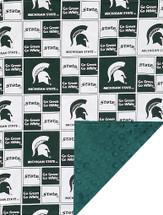 Michigan State Spartans Baby/Toddler Minky Blanket