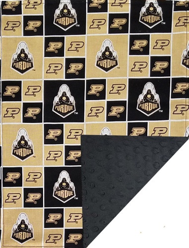 Purdue Boilermakers Baby/Toddler Minky Blanket