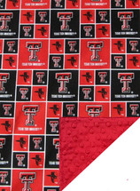 Texas Tech Red Raiders Baby/Toddler Minky Blanket