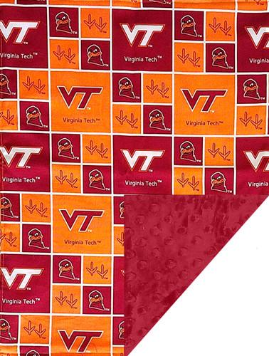 Virginia Tech Hokies Baby/Toddler Minky Blanket