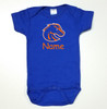 Boise State Broncos Personalized Team Color Baby Onesie