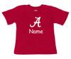 Alabama Crimson Tide Personalized Team Color Baby Onesie