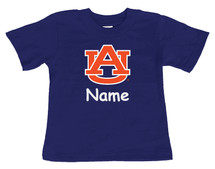 Auburn Tigers Personalized Team Color Baby/Toddler T-Shirt