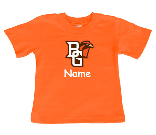 Bowling Green St. Falcons Personalized Team Color Baby/Toddler T-Shirt