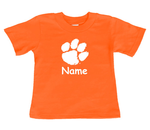Clemson Tigers Personalized Team Color Baby/Toddler T-Shirt