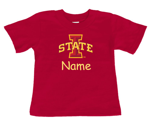 Iowa State Cyclones Personalized Team Color Baby/Toddler T-Shirt