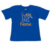 Memphis Tigers Personalized Team Color Baby/Toddler T-Shirt