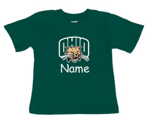 Ohio Bobcats Personalized Team Color Baby/Toddler T-Shirt