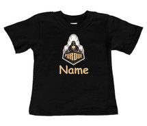 Purdue Boilermakers Personalized Team Color Baby/Toddler T-Shirt