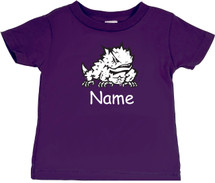 Texas Christian TCU Horned Frogs Personalized Team Color Baby/Toddler T-Shirt