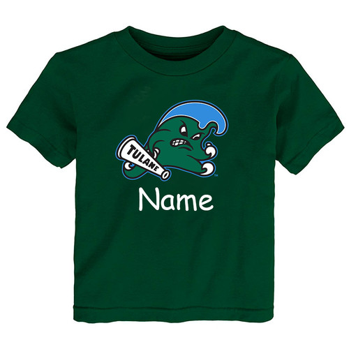 Tulane Green Wave Personalized Team Color Baby/Toddler T-Shirt