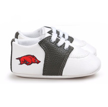 Arkansas Razorbacks Pre-Walker Baby Shoes - Black Trim