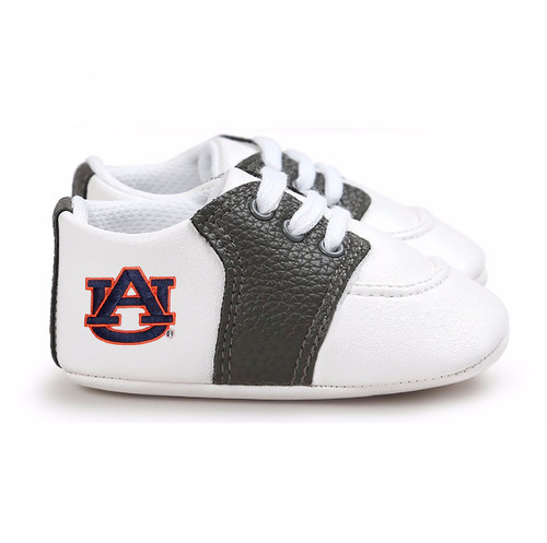 Auburn Tigers Pre-Walker Baby Shoes - Black Trim