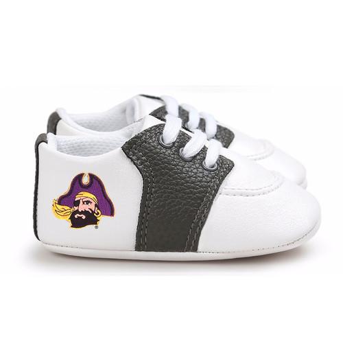 East Carolina Pirates Pre-Walker Baby Shoes - Black Trim