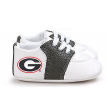 Georgia Bulldogs Pre-Walker Baby Shoes - Black Trim