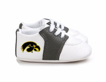 Iowa Hawkeyes Pre-Walker Baby Shoes - Black Trim