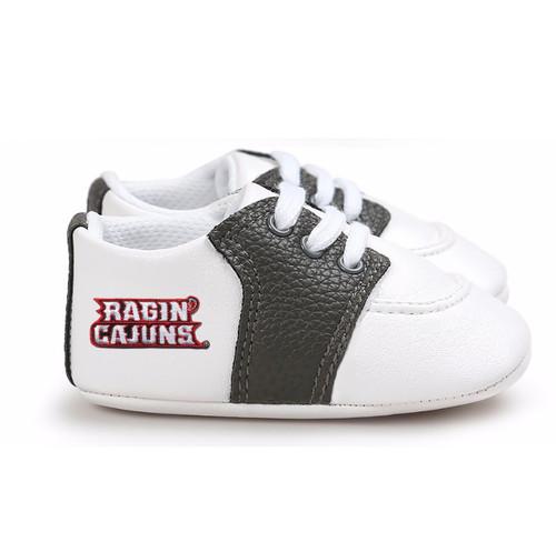 Louisiana Ragin Cajuns Pre-Walker Baby Shoes - Black Trim