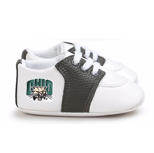 Ohio Bobcats Pre-Walker Baby Shoes - Black Trim