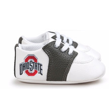 Ohio State Buckeyes Pre-Walker Baby Shoes - Black Trim