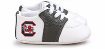 South Carolina Gamecocks Pre-Walker Baby Shoes - Black Trim