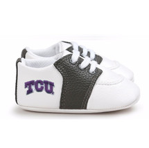 Texas Christian TCU Horned Frogs Pre-Walker Baby Shoes - Black Trim