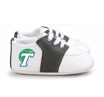 Tulane Green Wave Pre-Walker Baby Shoes - Black Trim