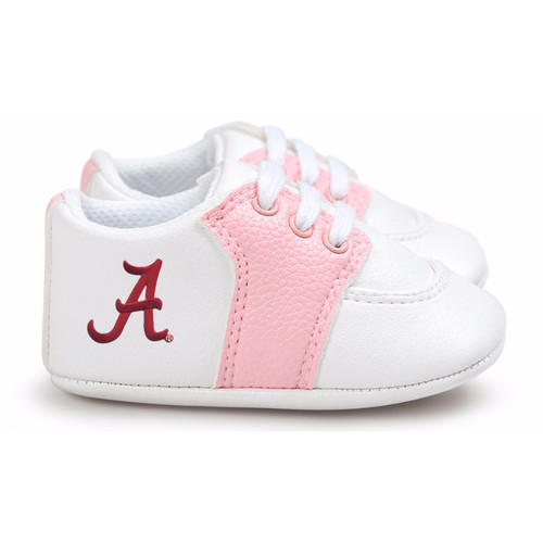 Alabama Crimson Tide Pre-Walker Baby Shoes - Pink Trim