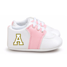Appalachian State Mountaineers Pre-Walker Baby Shoes - Pink Trim