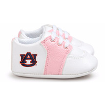 Auburn Tigers Pre-Walker Baby Shoes - Pink Trim