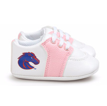 Boise State Broncos Pre-Walker Baby Shoes - Pink Trim