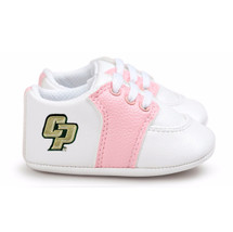 Cal Poly Mustangs Pre-Walker Baby Shoes - Pink Trim