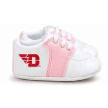 Dayton Flyers Pre-Walker Baby Shoes - Pink Trim