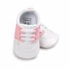Louisiana Ragin Cajuns Pre-Walker Baby Shoes - Pink Trim