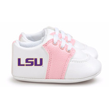 LSU Tigers Pre-Walker Baby Shoes - Pink Trim