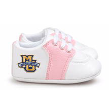 Marquette Golden Eagles Pre-Walker Baby Shoes - Pink Trim