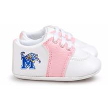 Memphis Tigers Pre-Walker Baby Shoes - Pink Trim