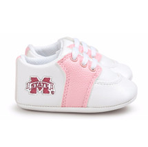 Mississippi State Bulldogs Pre-Walker Baby Shoes - Pink Trim