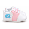 North Carolina Tar Heels Pre-Walker Baby Shoes - Pink Trim
