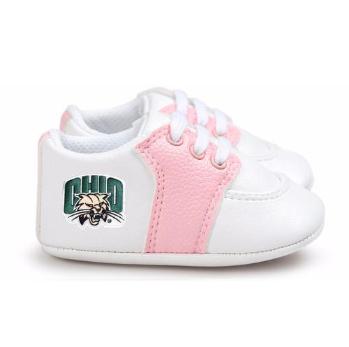 Ohio Bobcats Pre-Walker Baby Shoes - Pink Trim