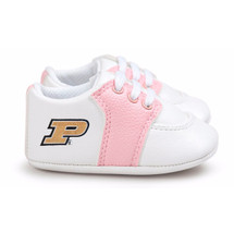 Purdue Boilermakers Pre-Walker Baby Shoes - Pink Trim