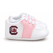 South Carolina Gamecocks Pre-Walker Baby Shoes - Pink Trim